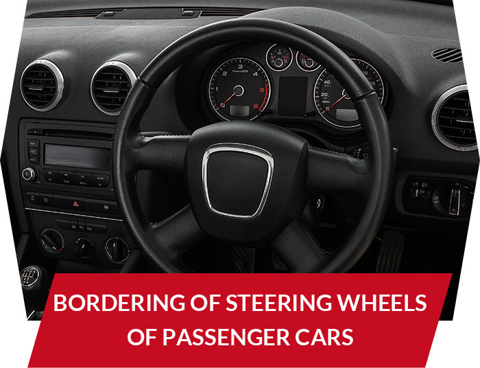 Bordering of steering wheels of passenger cars