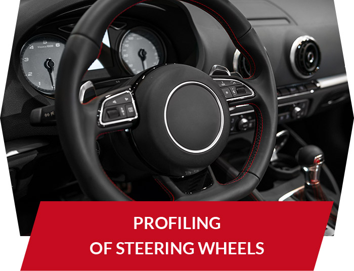 Profiling of steering wheels